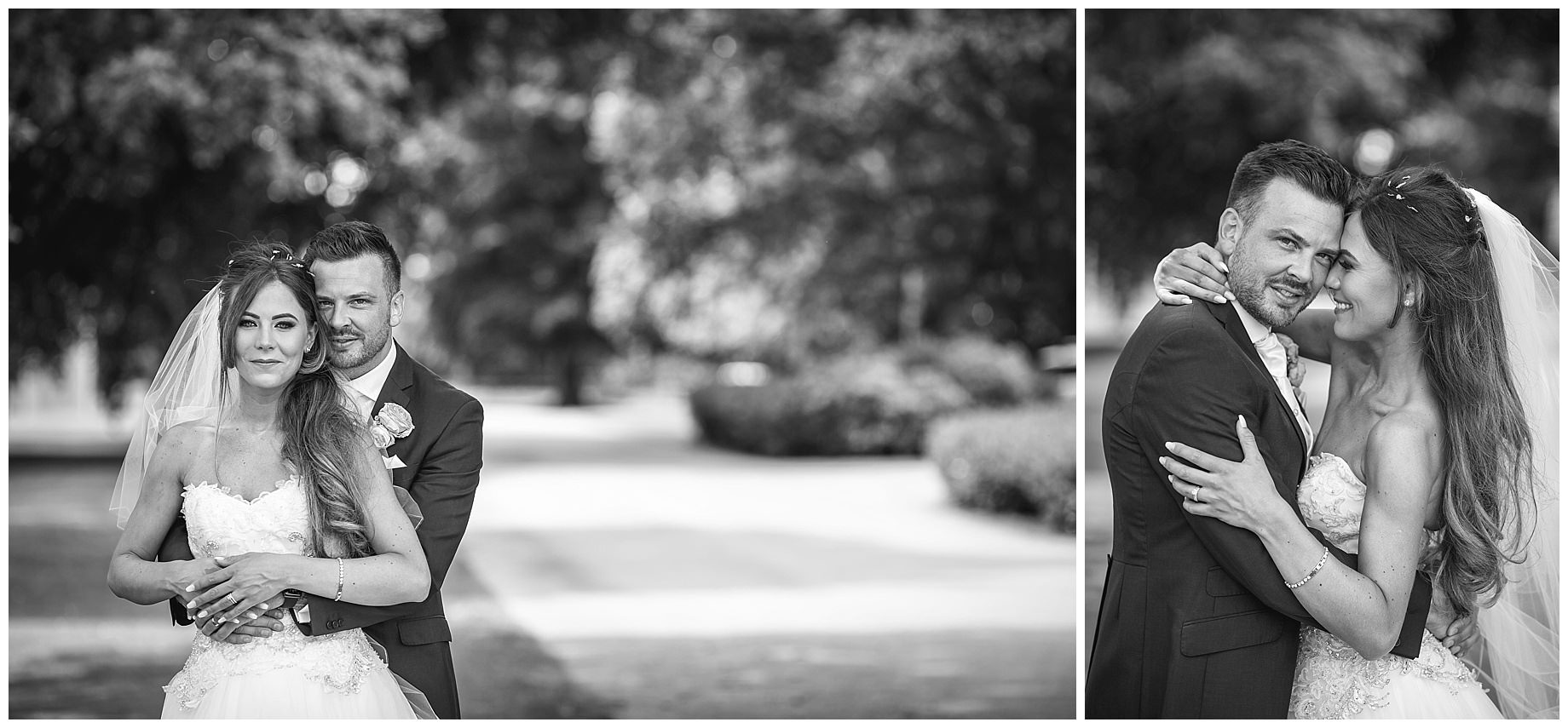 Stowe House Wedding Photography in black and white of the bride and groom