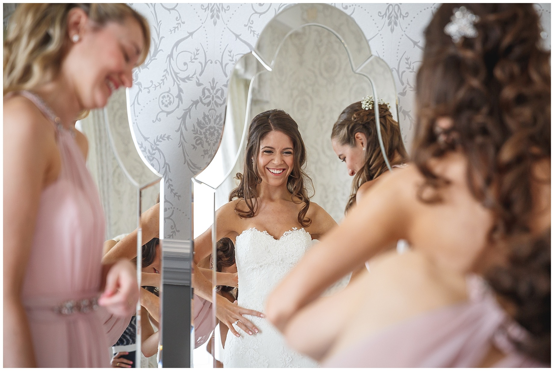 cheryl gets ready for her hedosr house wedding