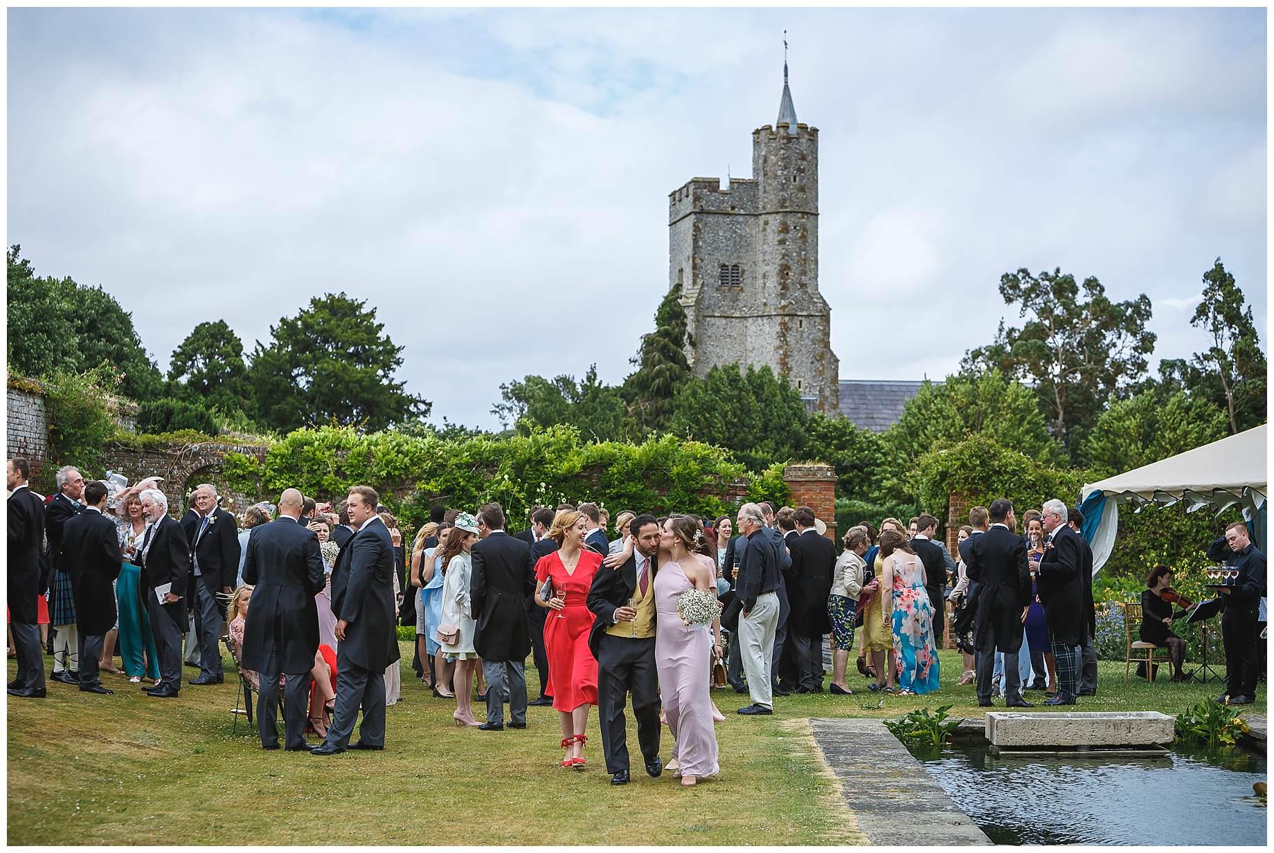 Goodnestone Park Wedding drinks reception
