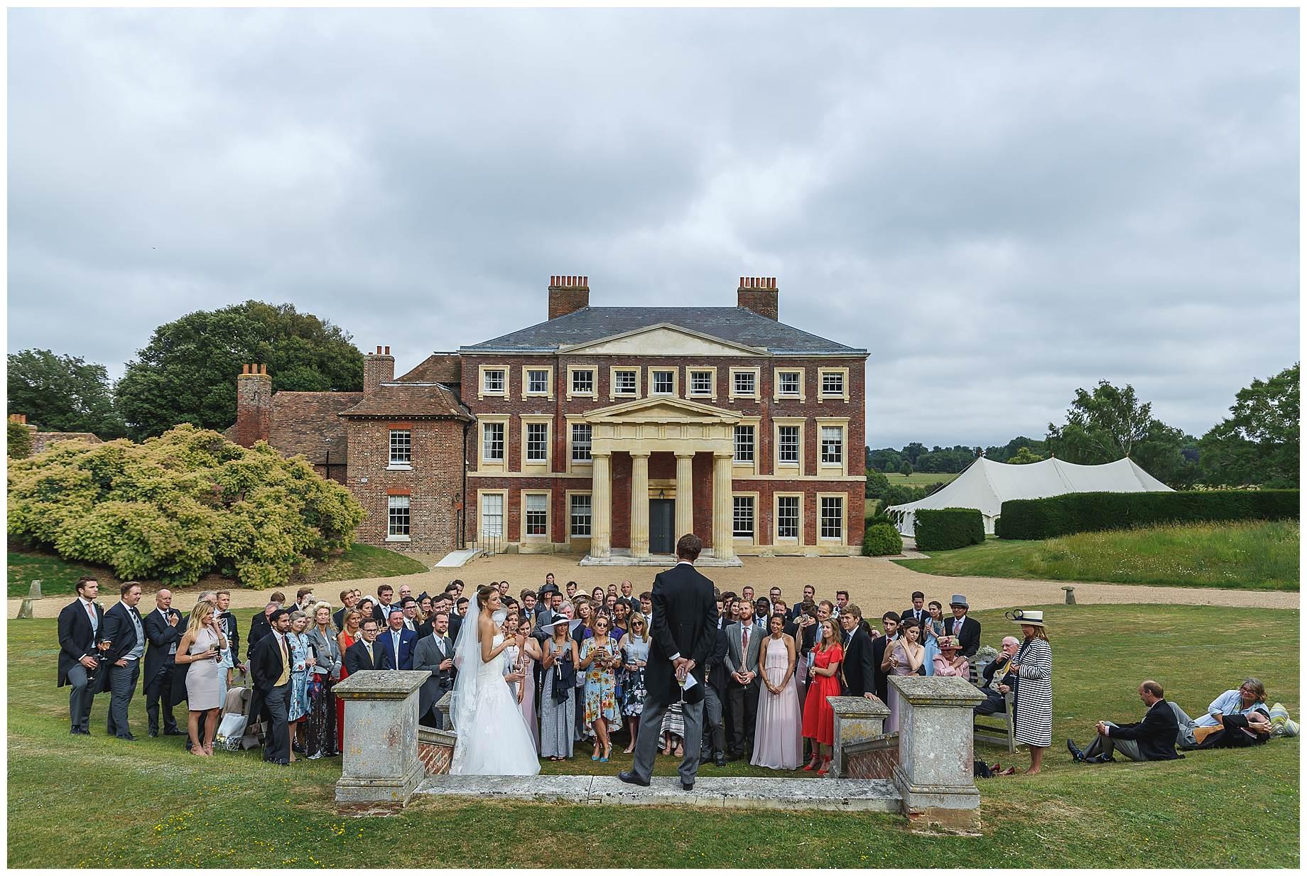 the speeches at Goodnestone Park Wedding