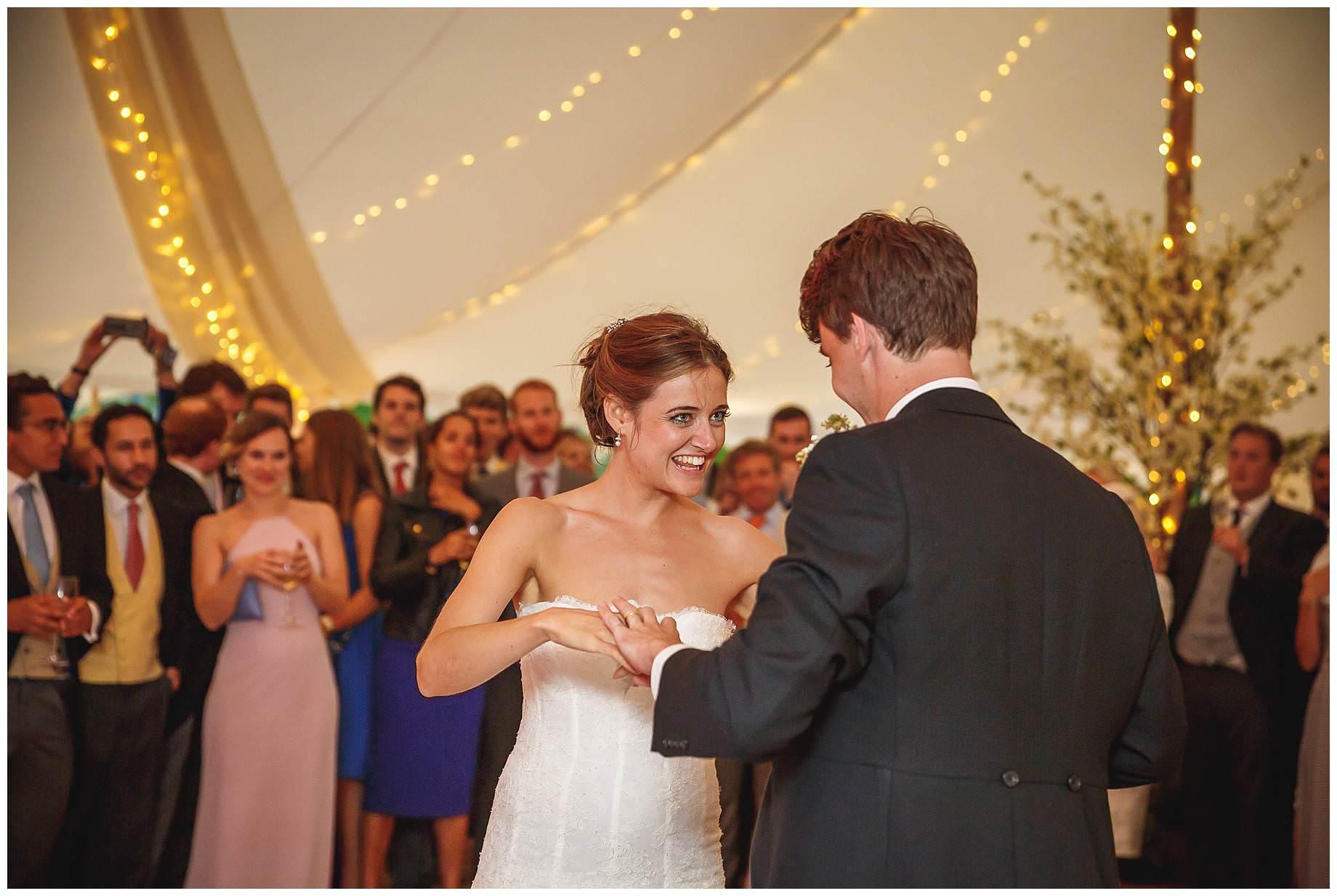 first dance at Goodnestone Park Wedding