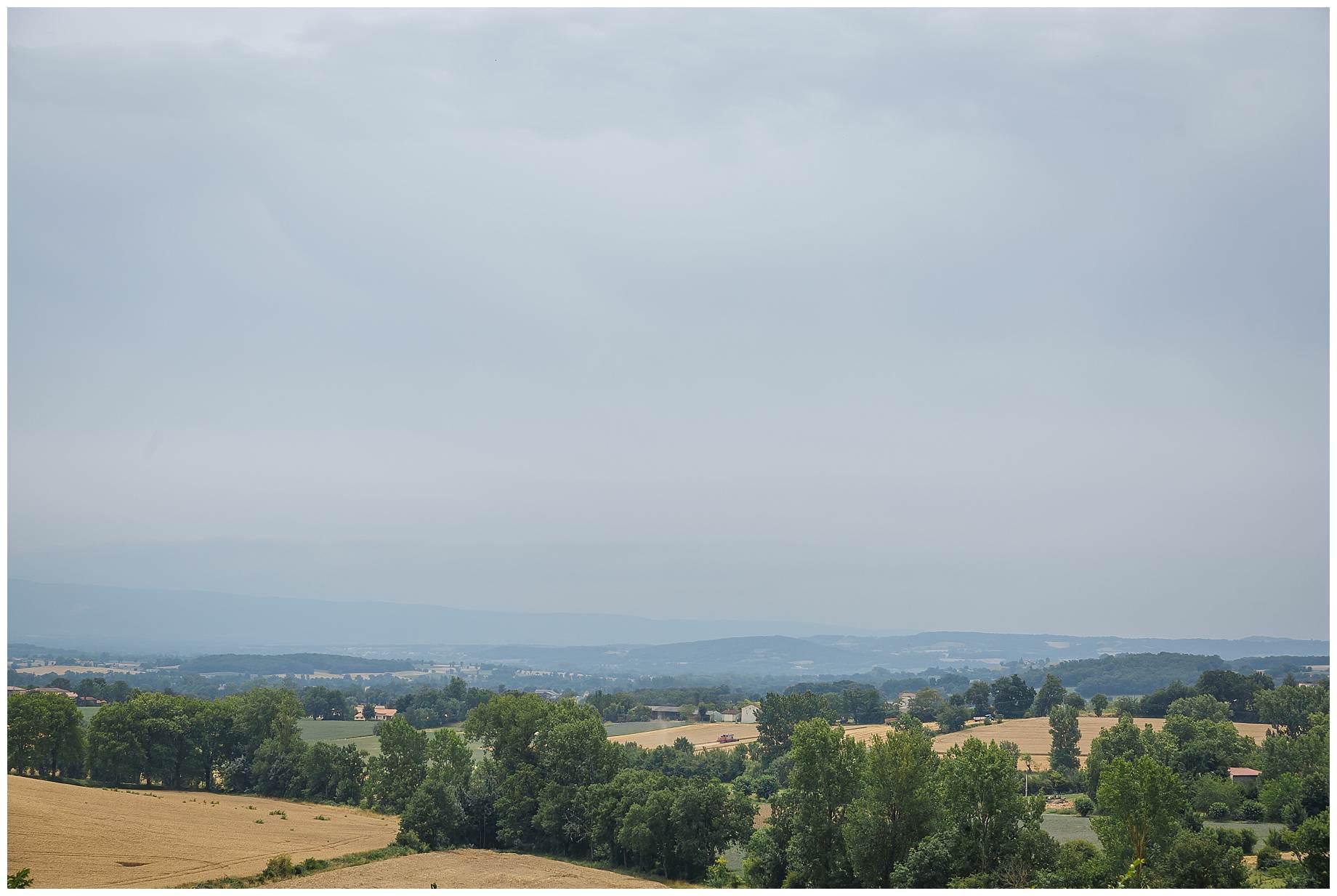 view from Chateau Brametourte Wedding