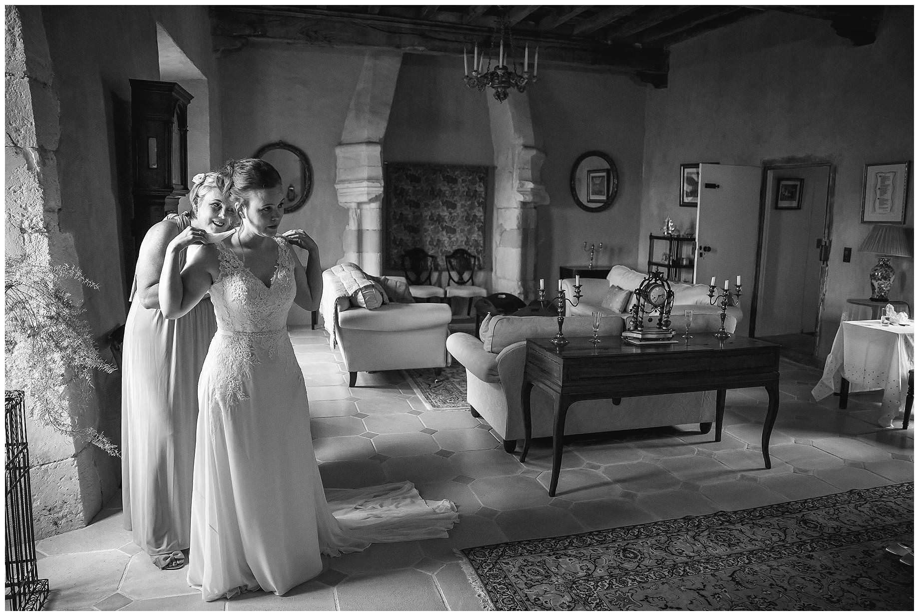 bride at Chateau Brametourte Wedding