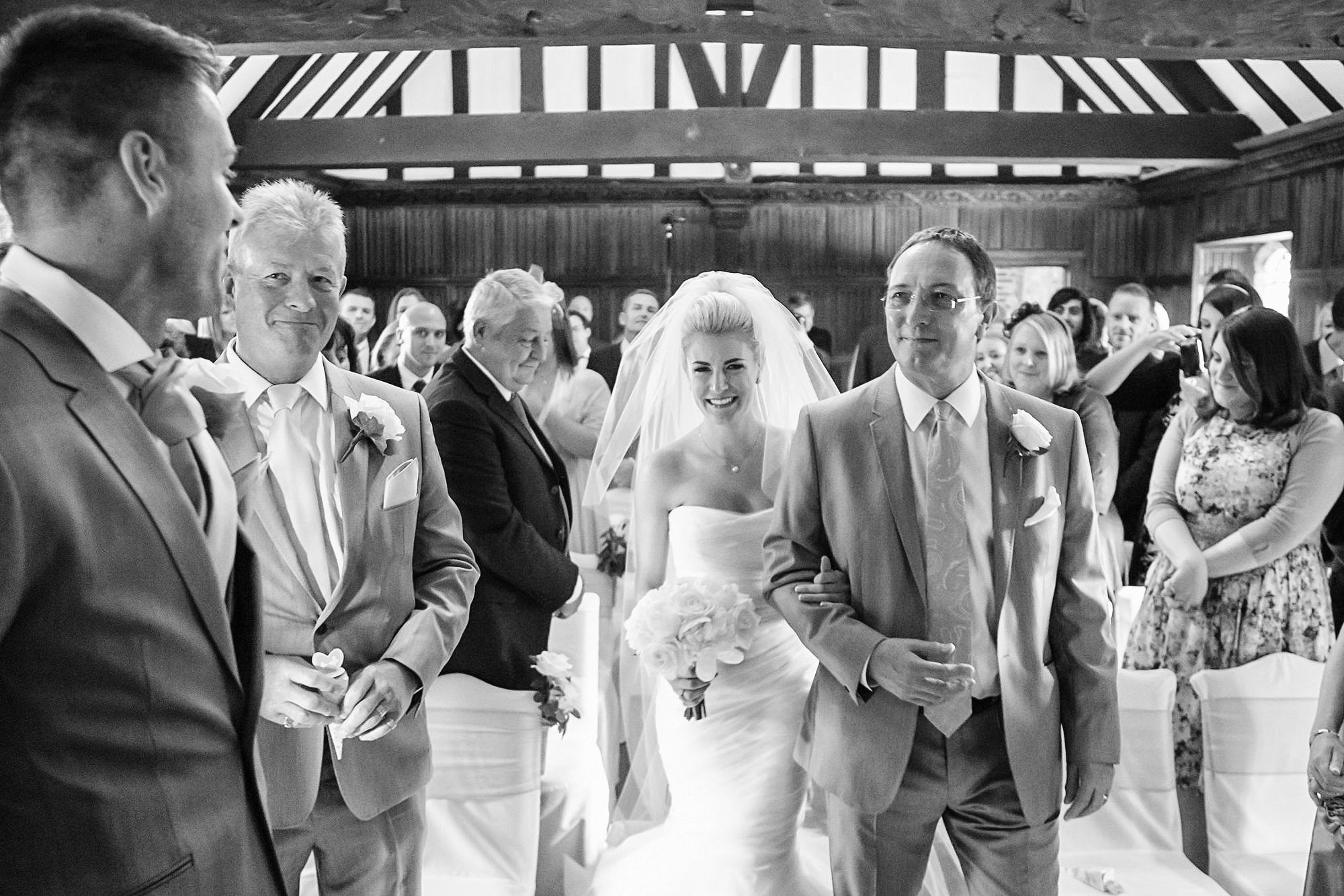wedding ceremony at Leez Priory Wedding