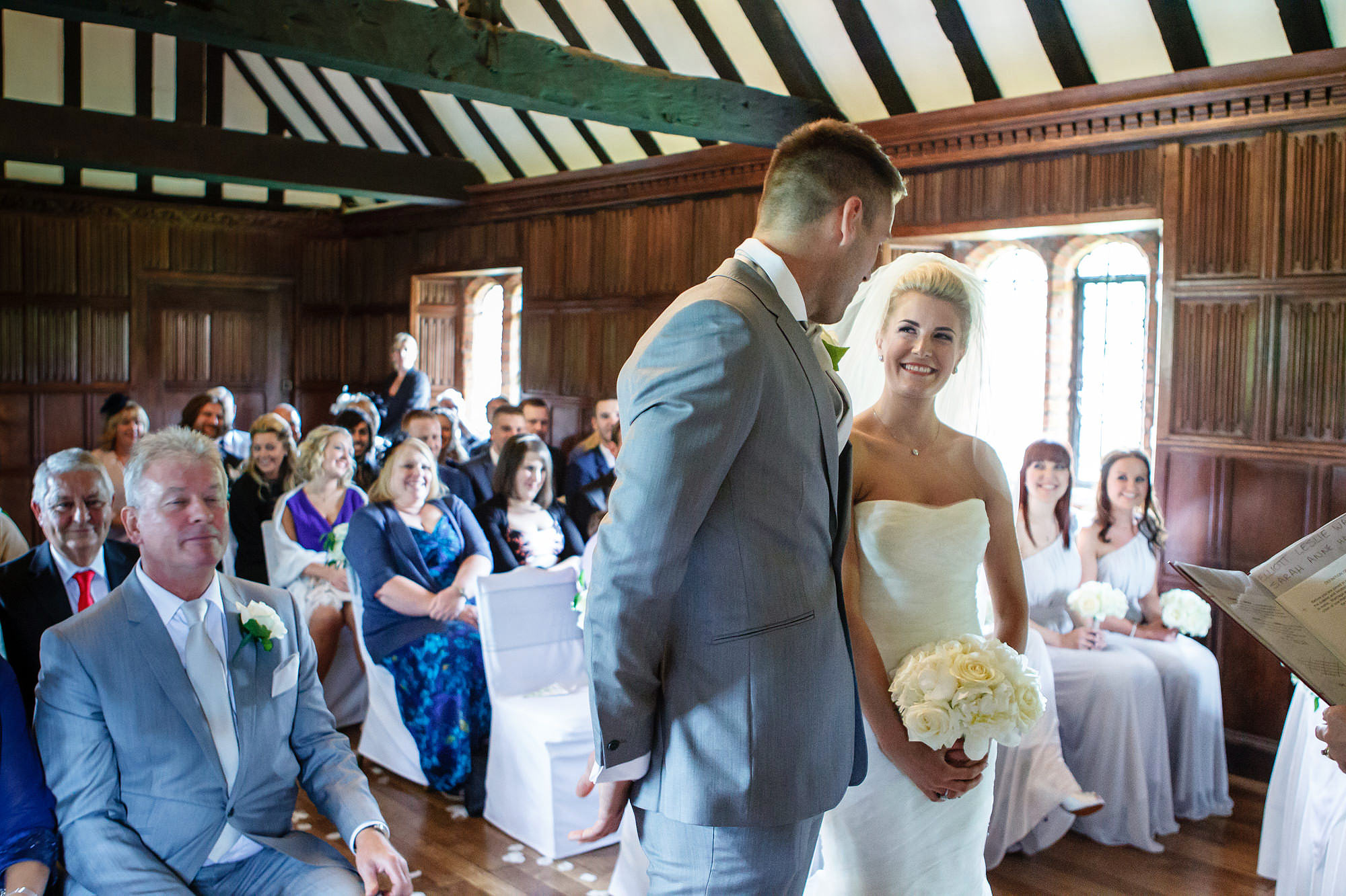 indoor ceremony Leez Priory