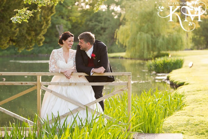Ardington House Wedding portraits of bridge