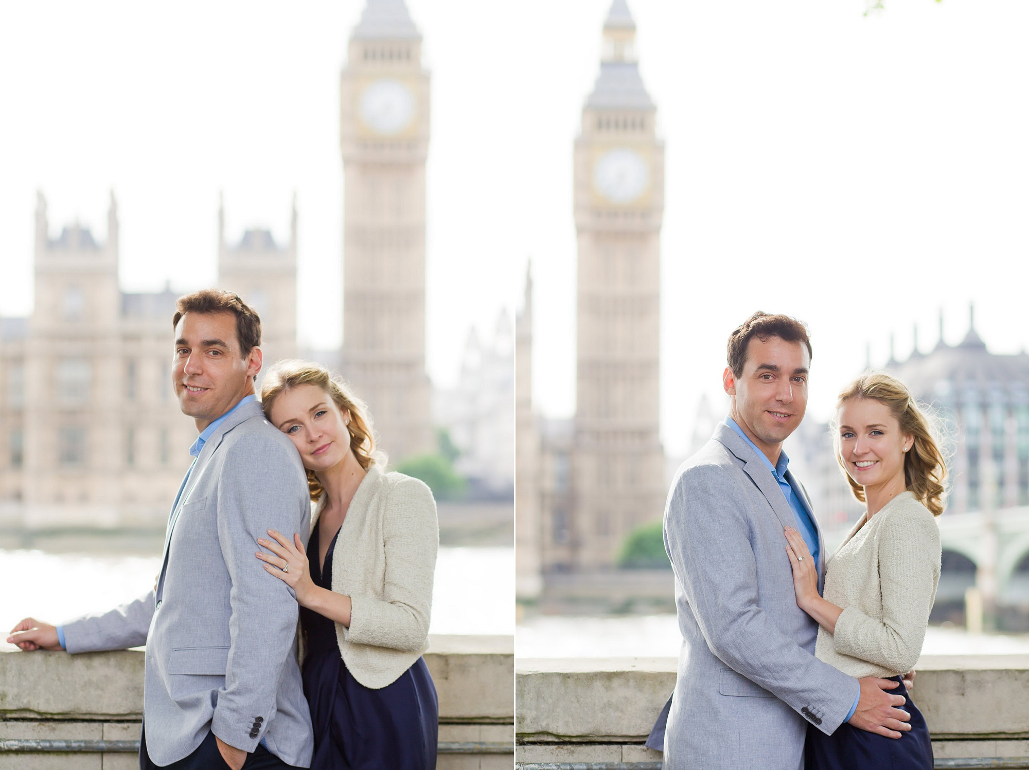 engagement photos across from big ben london