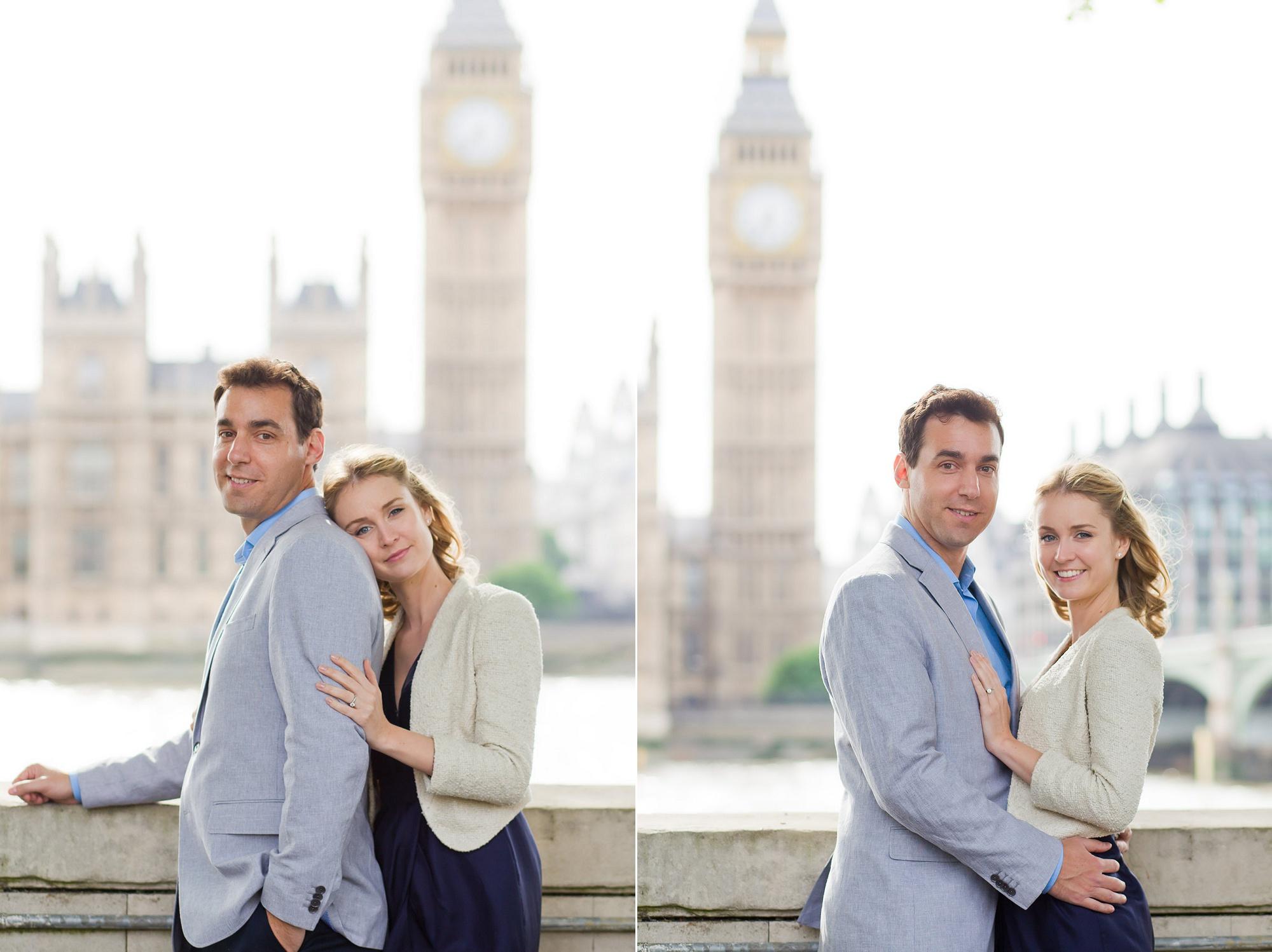 engagement photos across from big ben london