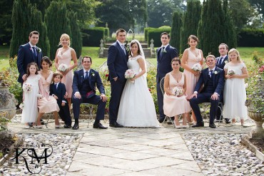 Hengrave Hall weddings bridal party picture