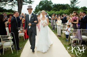 wedding at hedsor house outside ceremony