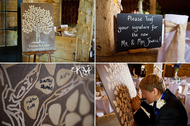 Pagen wedding ideas - oak tree signing board