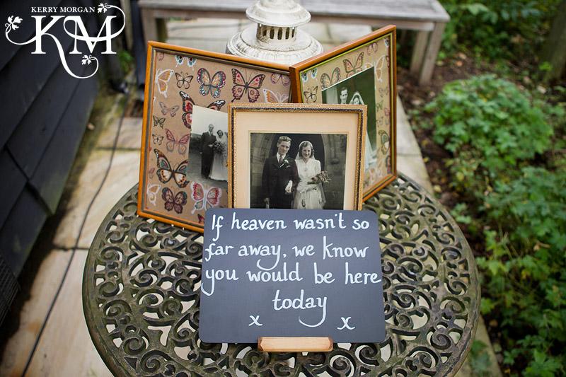 wedding tribute table