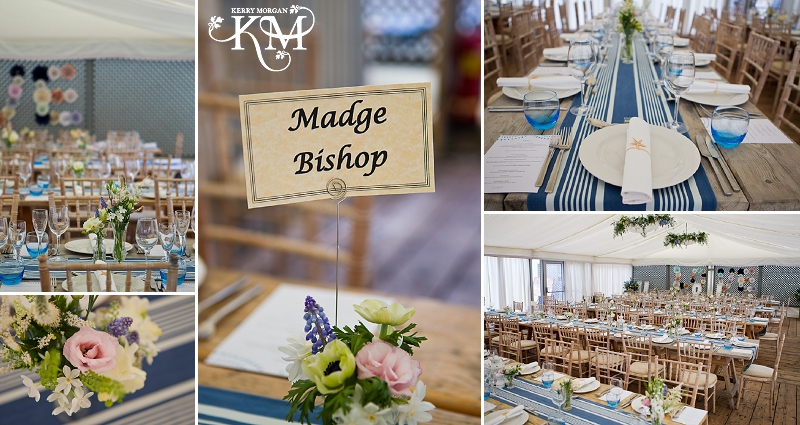 Gallivant hotel wedding tables