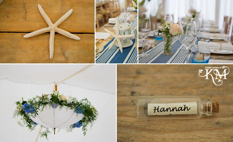 Gallivant hotel wedding tables and starfish