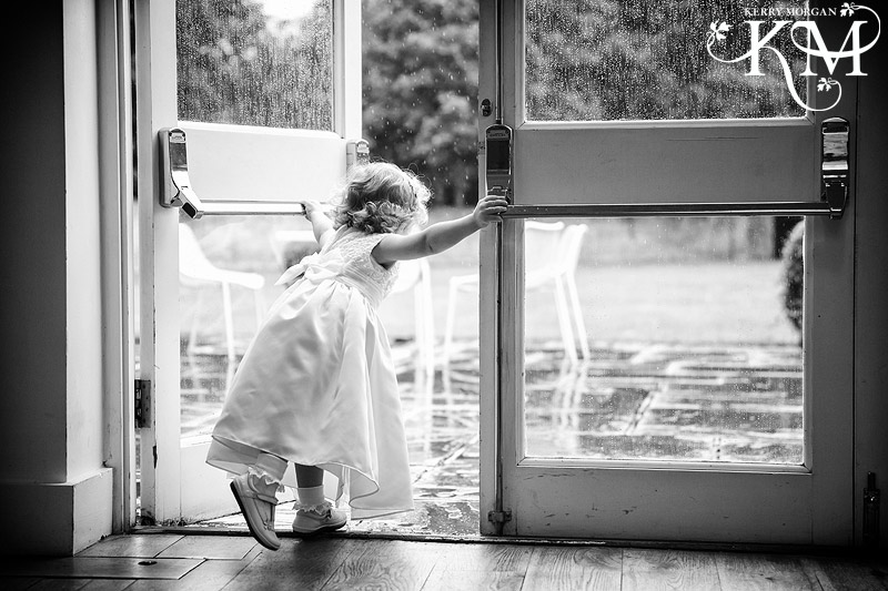 Stoke place wedding photos in rain