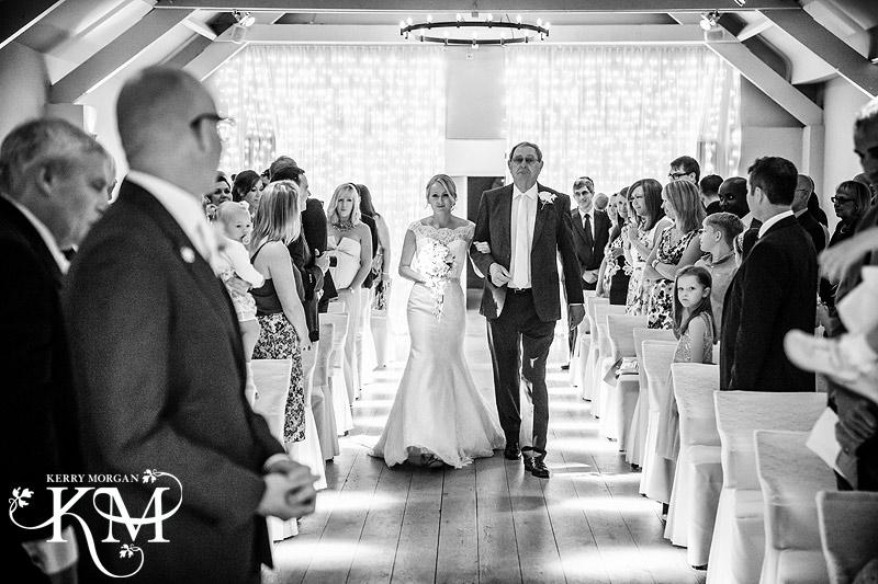 Stoke Place wedding photos bride enters