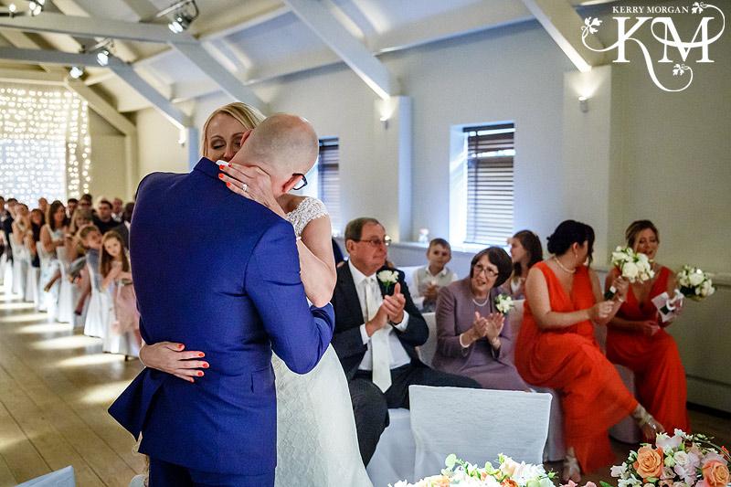 Stoke Place wedding photos ceremony room