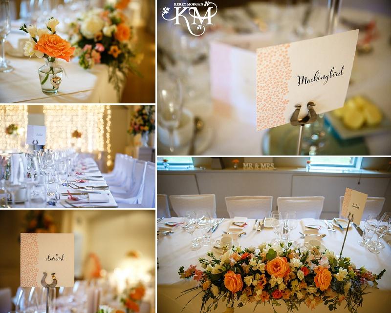 Stoke Place wedding photos room set up