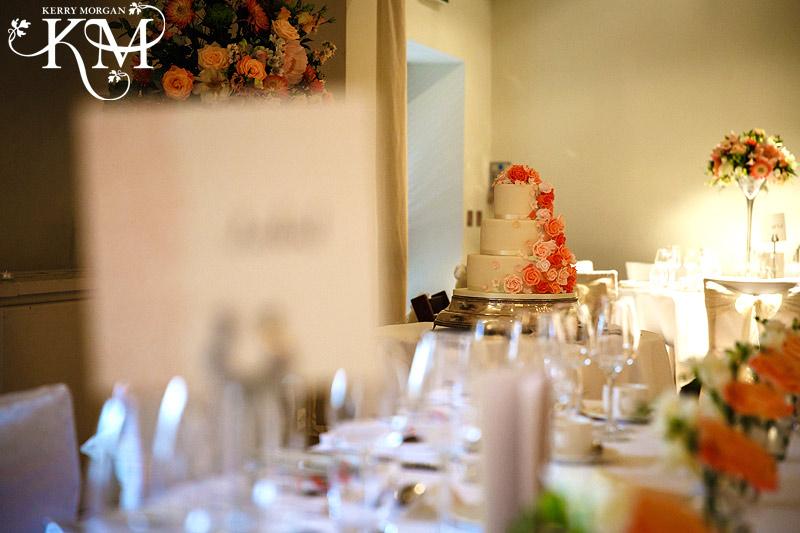 Stoke Place wedding photos cake