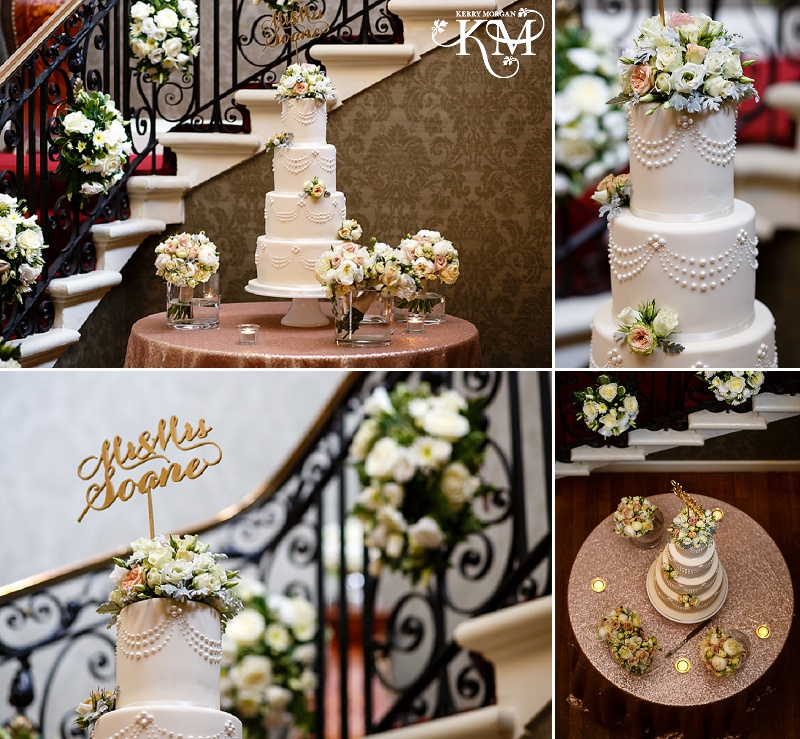 cake at Hedsor House summer wedding