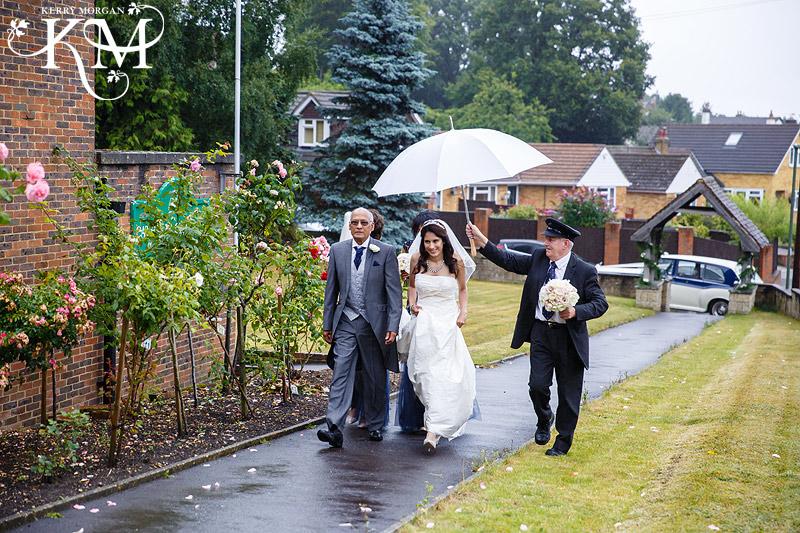 umbrellas at Elvetham wedding