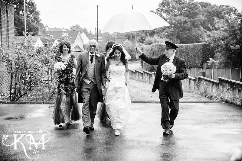 Elvetham wedding in rain