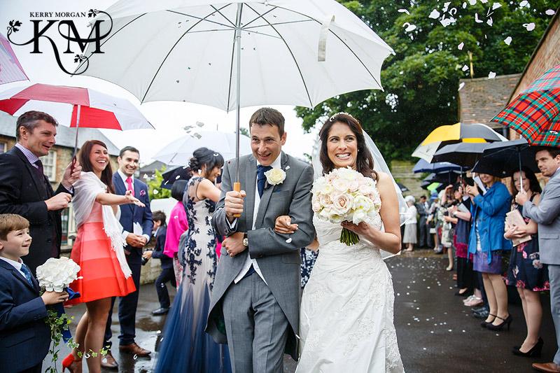rainy wedding Elvetham