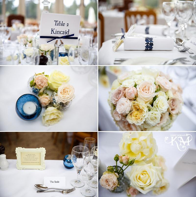 Elvetham wedding photography room set up