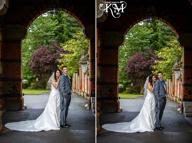 Elvetham wedding in the rain
