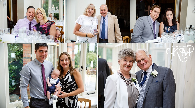 receiving line at Elvetham wedding