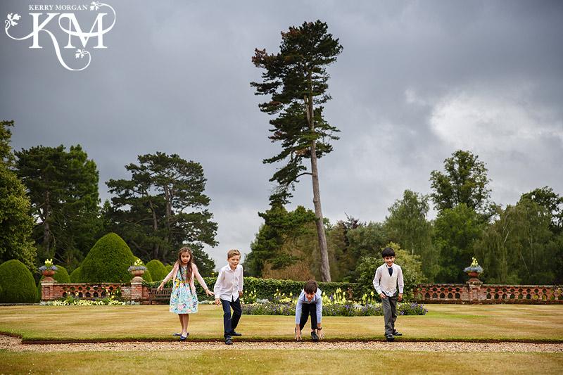 kids playing at Elvetham wedding