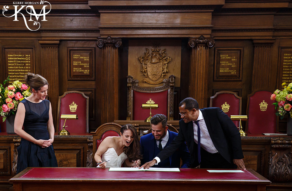 Islington Register Office Wedding signing