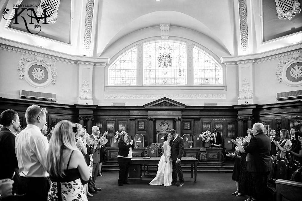 married at Islington Registry Office Wedding