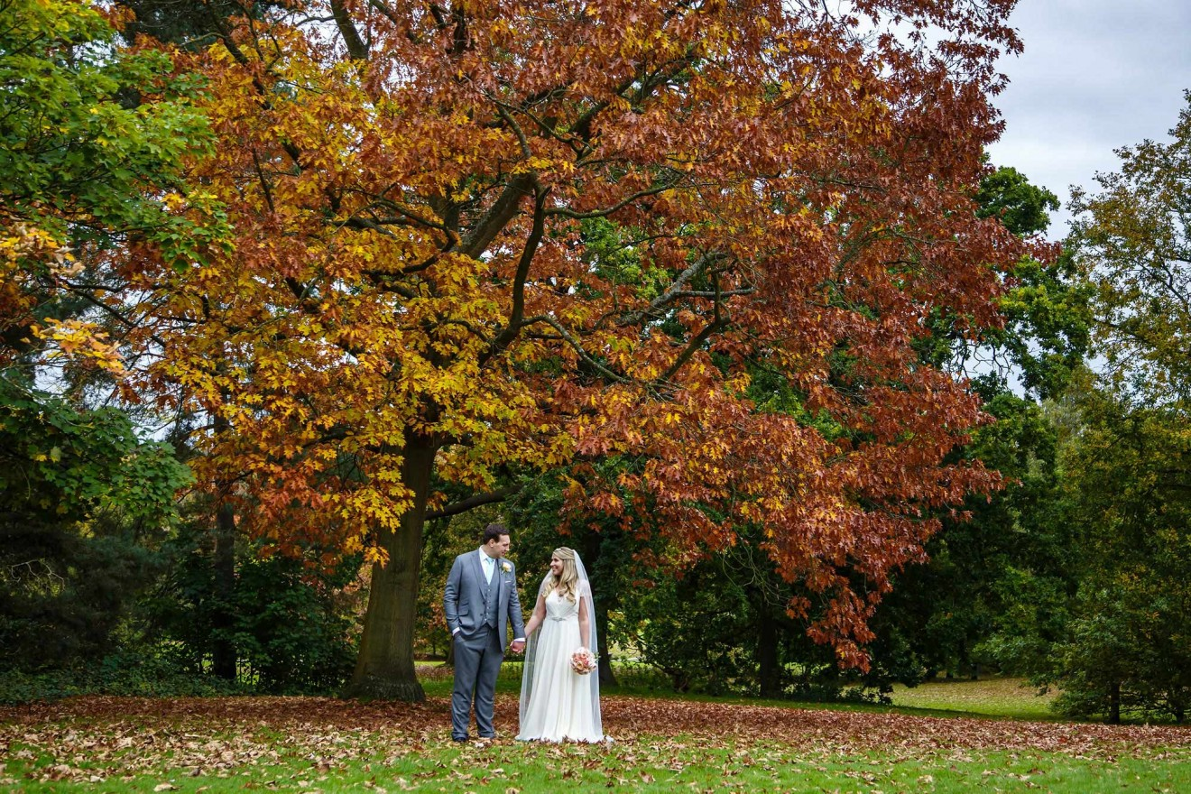 Autumn wedding at Botleys Mansion