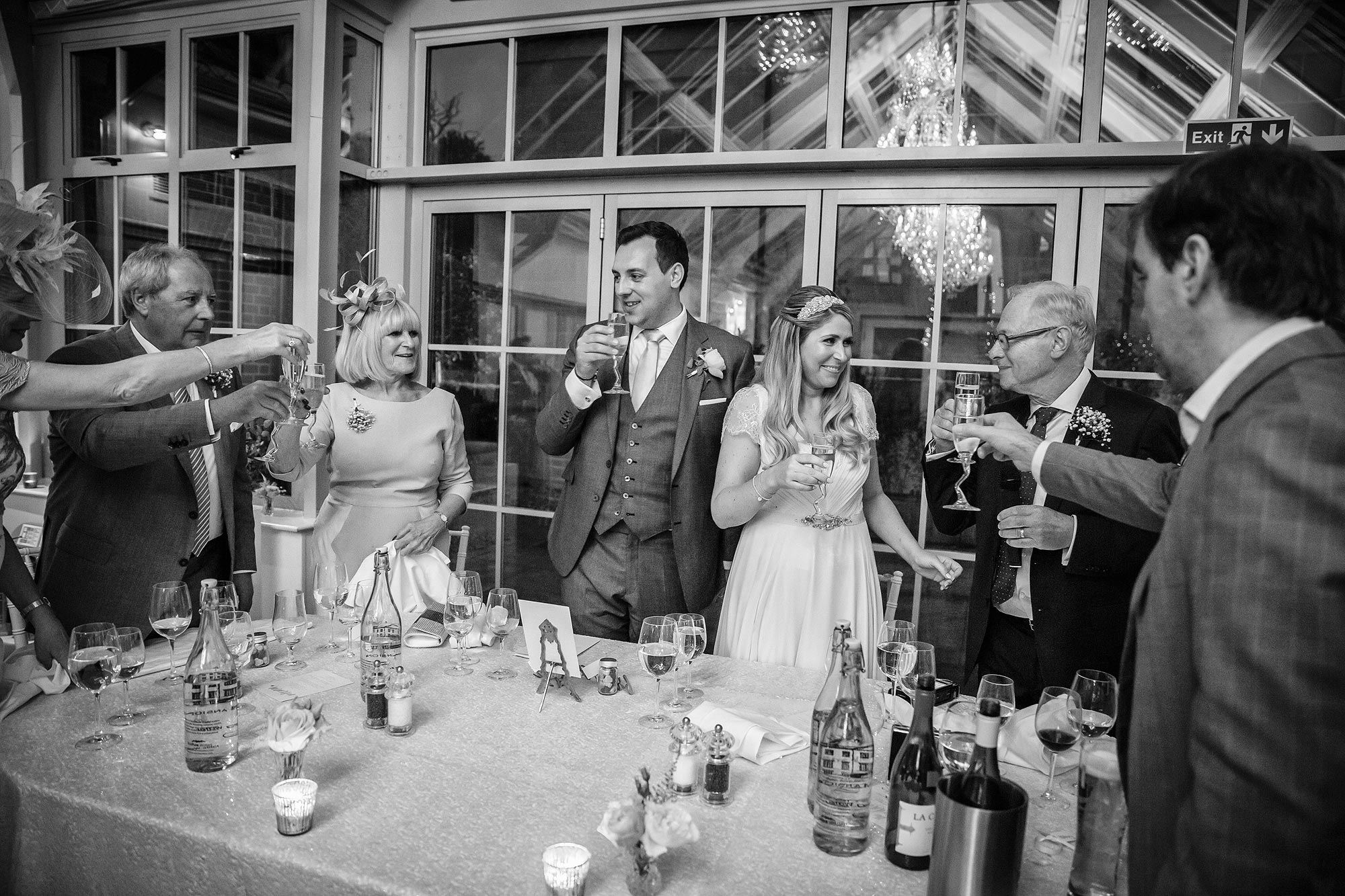 toasts Botleys Mansion Wedding