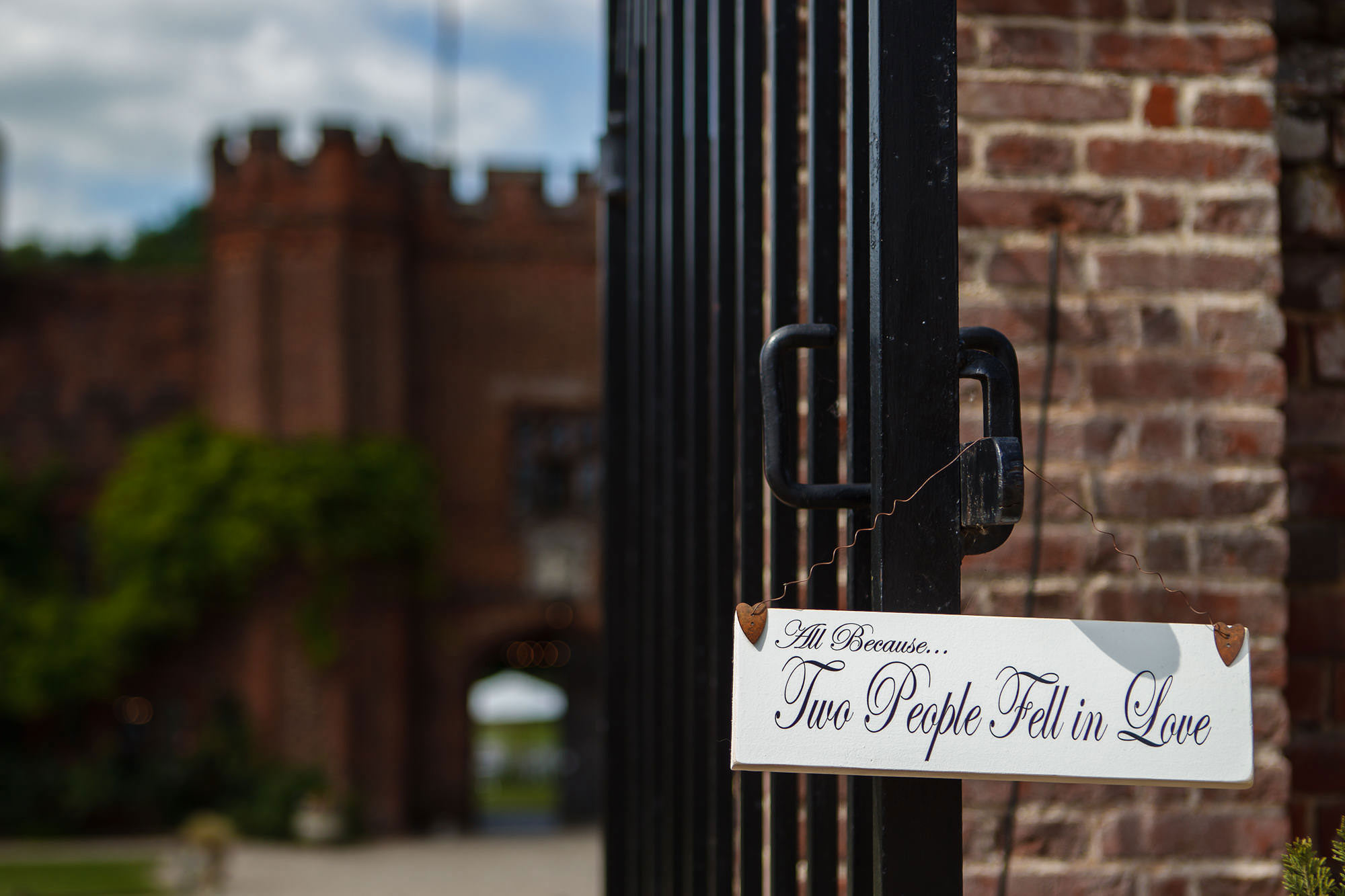 gates at Leez Priory Wedding