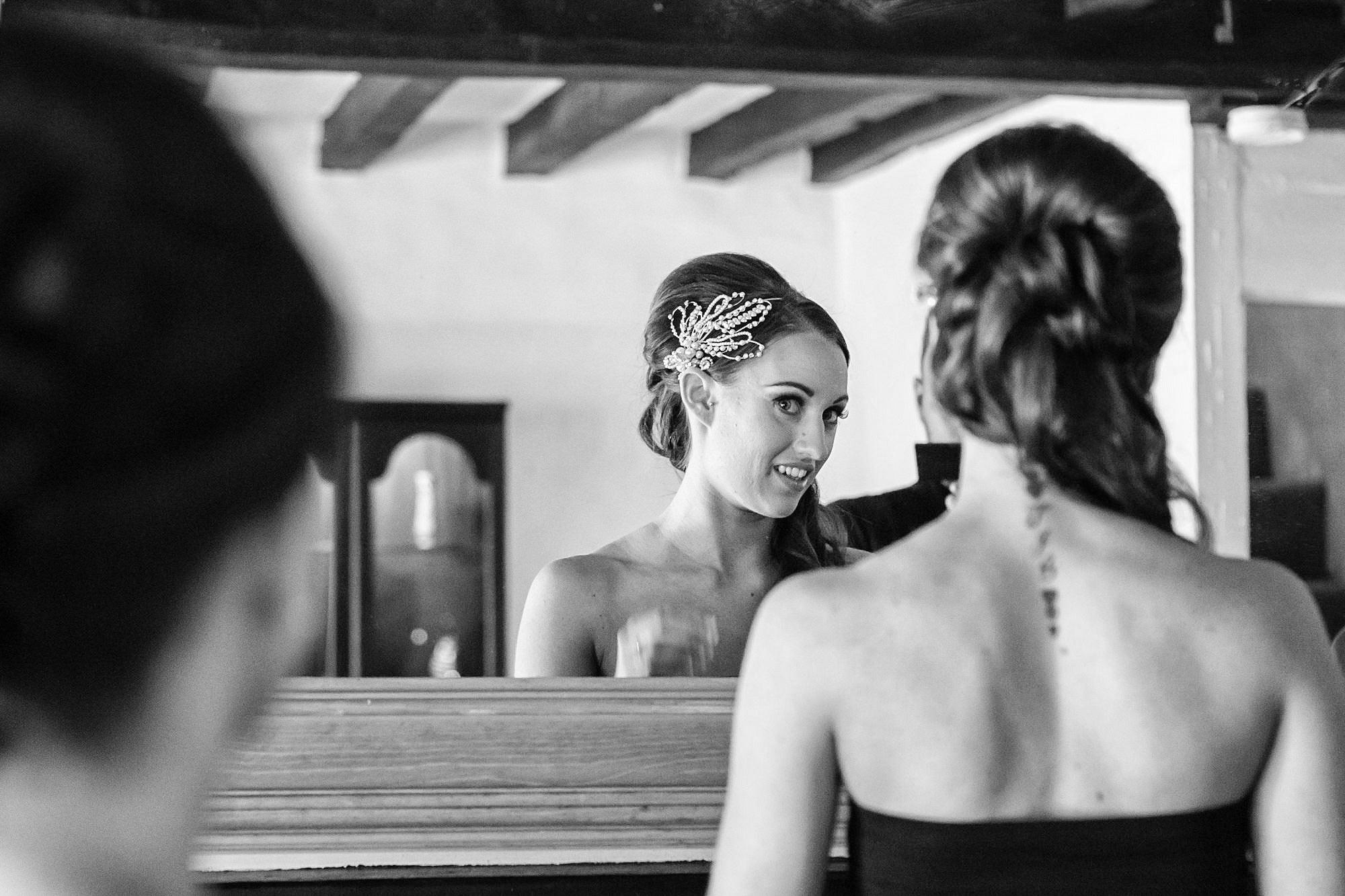 bride at Leez Priory Wedding