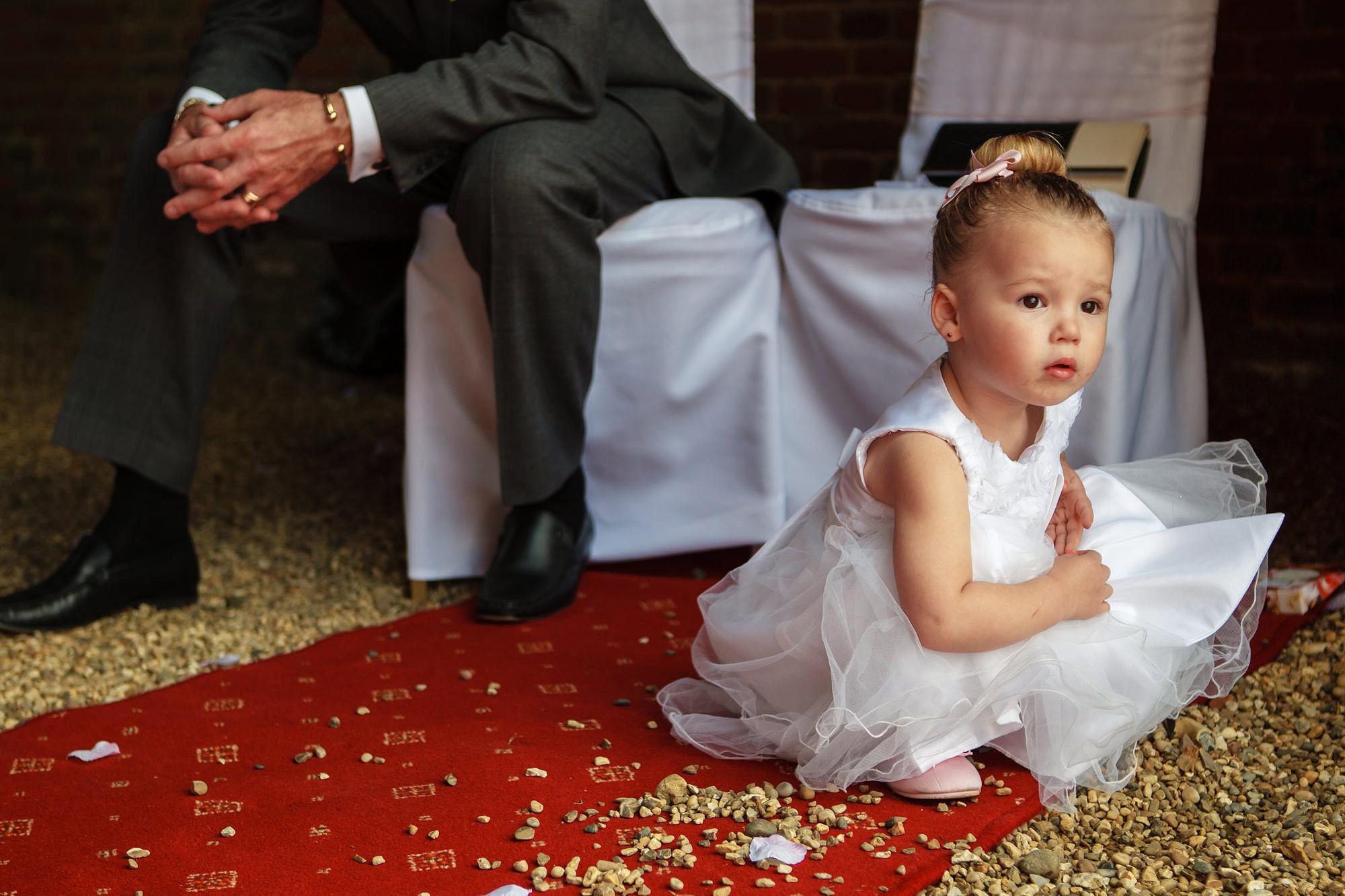 flower girl Leez Priory Wedding