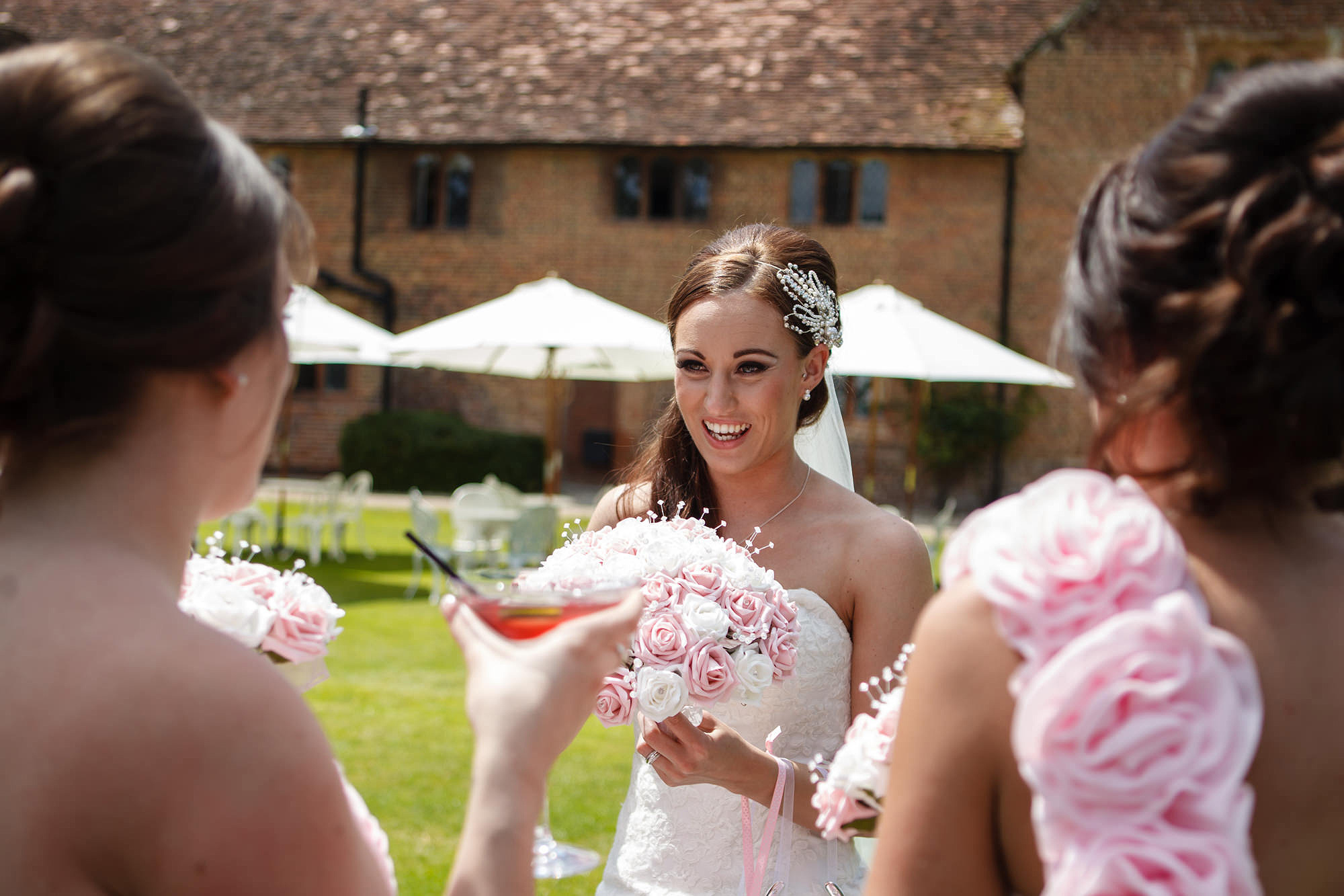 drinks reception at leez priory