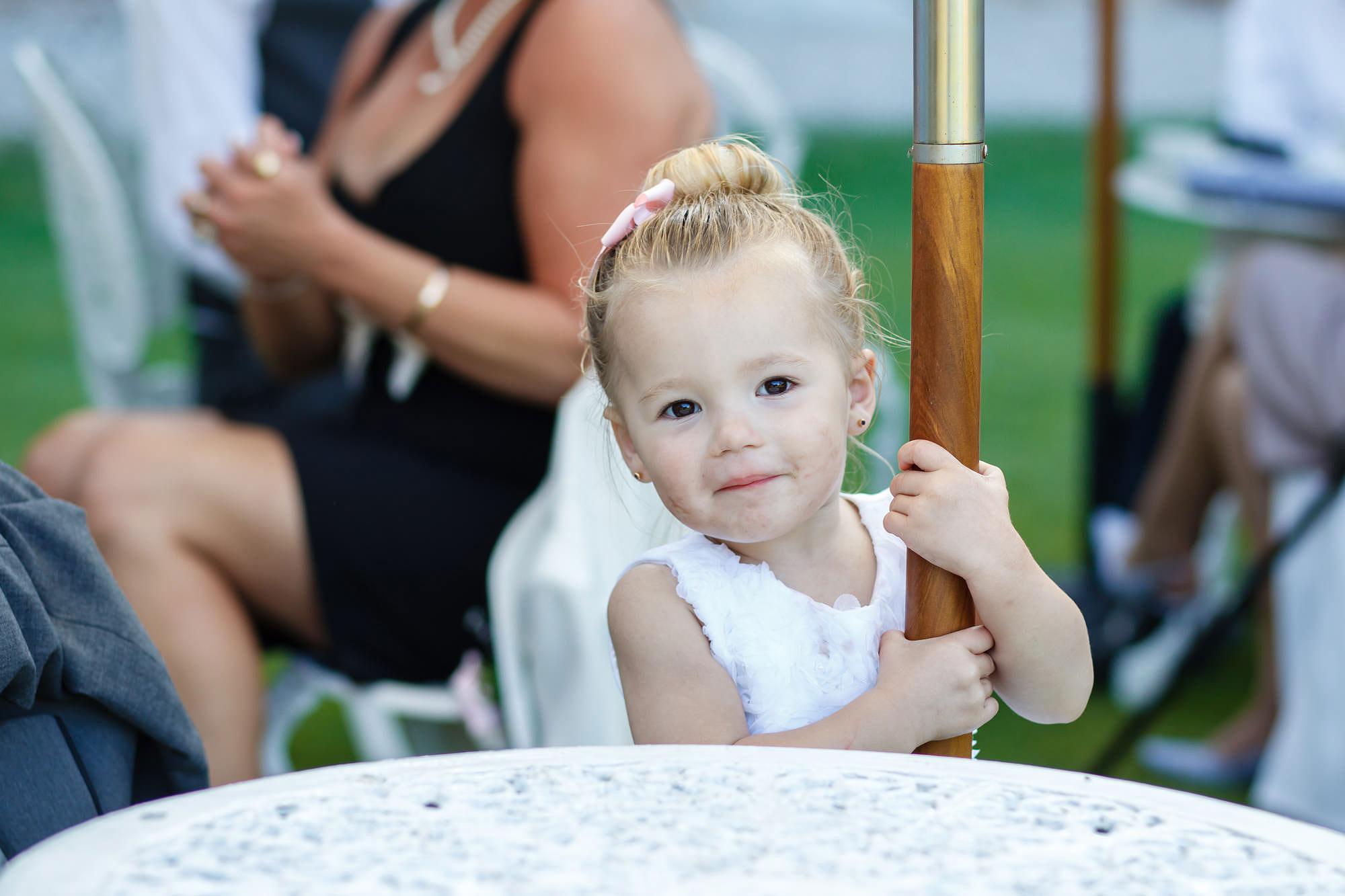 toddler at Leez Priory Wedding