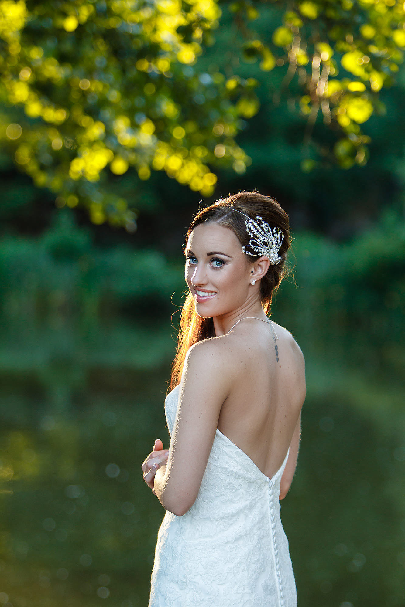 beautiful bride at Leez Priory Wedding