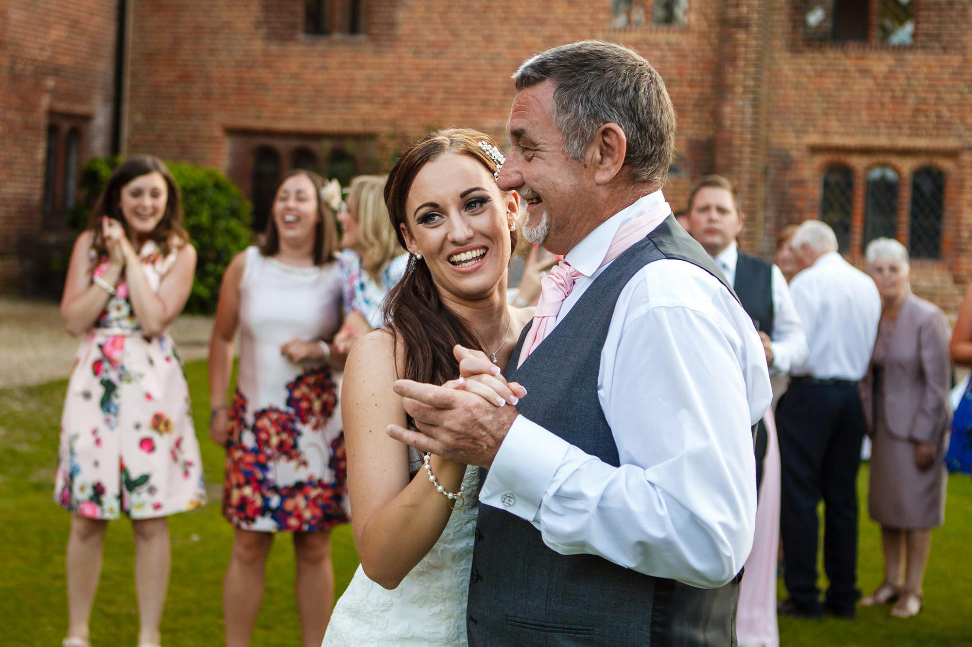 father and bride dance Leez Priory Wedding