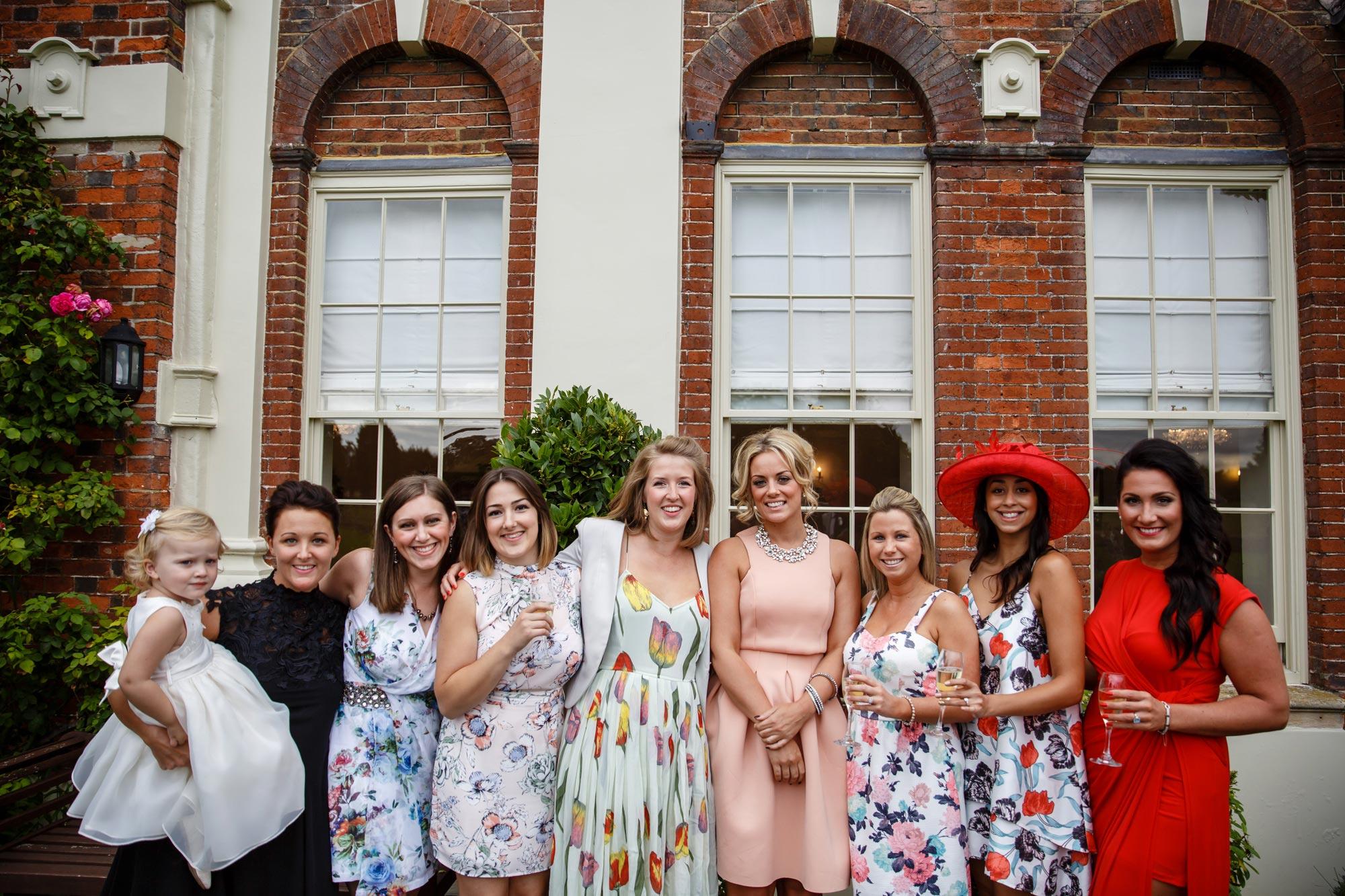 Parklands Quendon Hall Wedding guests