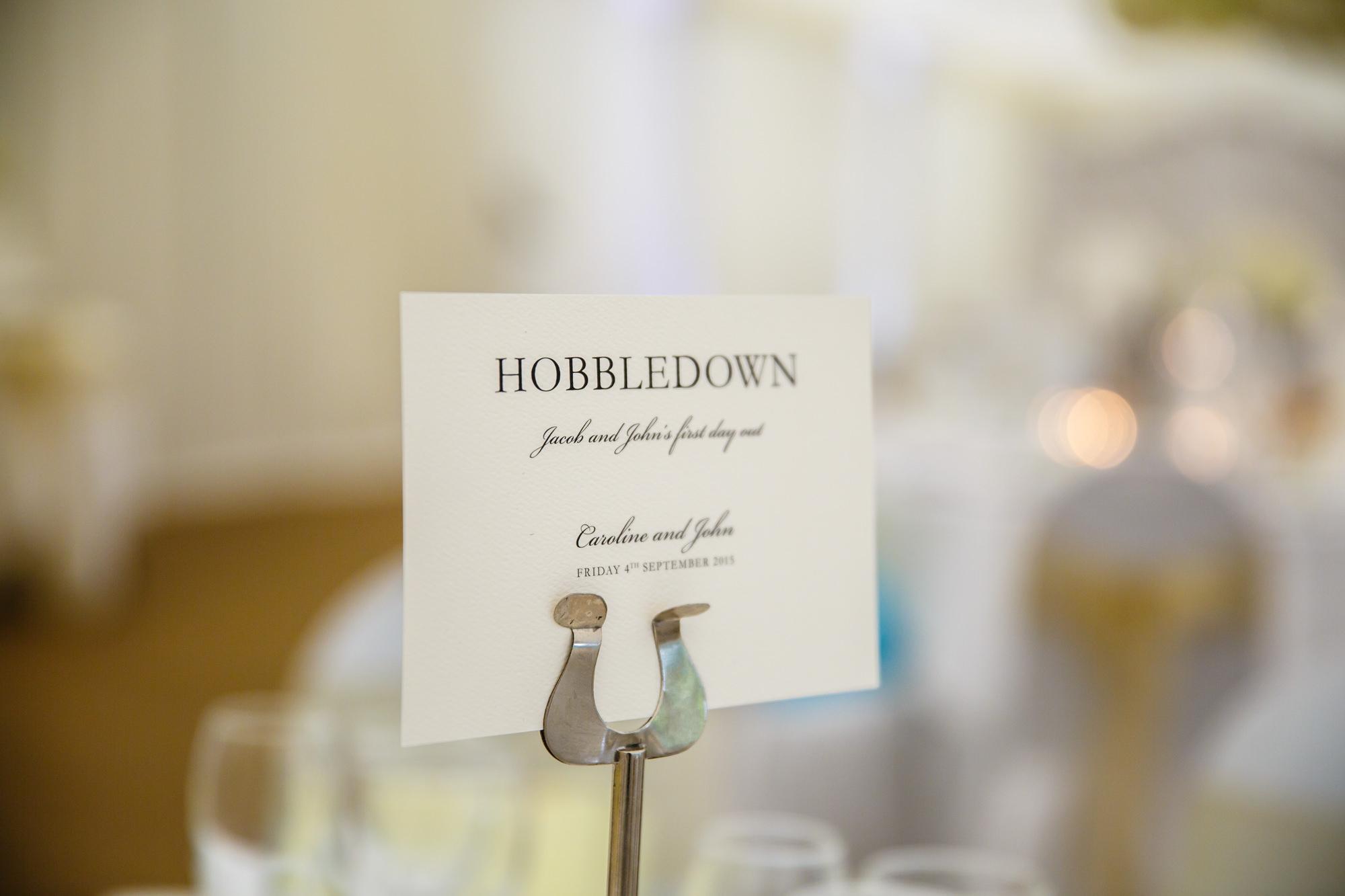 Parklands Quendon Hall Wedding room set up