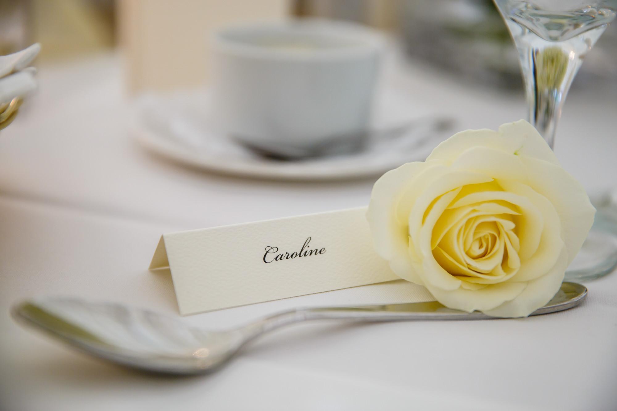 tables Parklands Quendon Hall Wedding