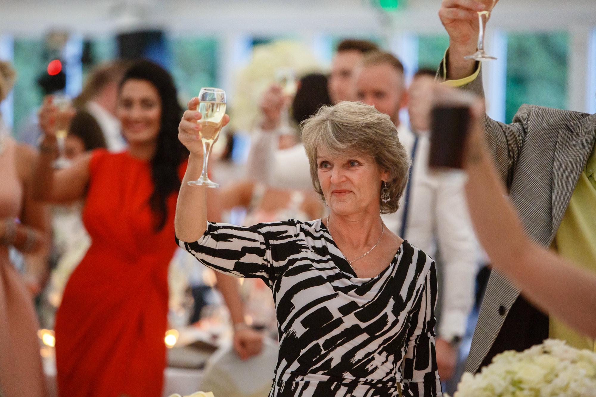 champagne at parklands wedding