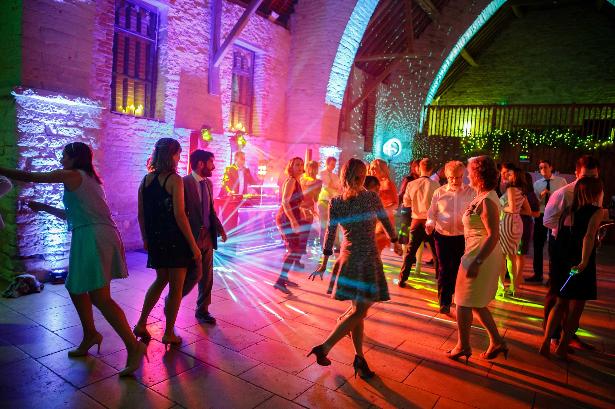 wedding dancing tithe barn
