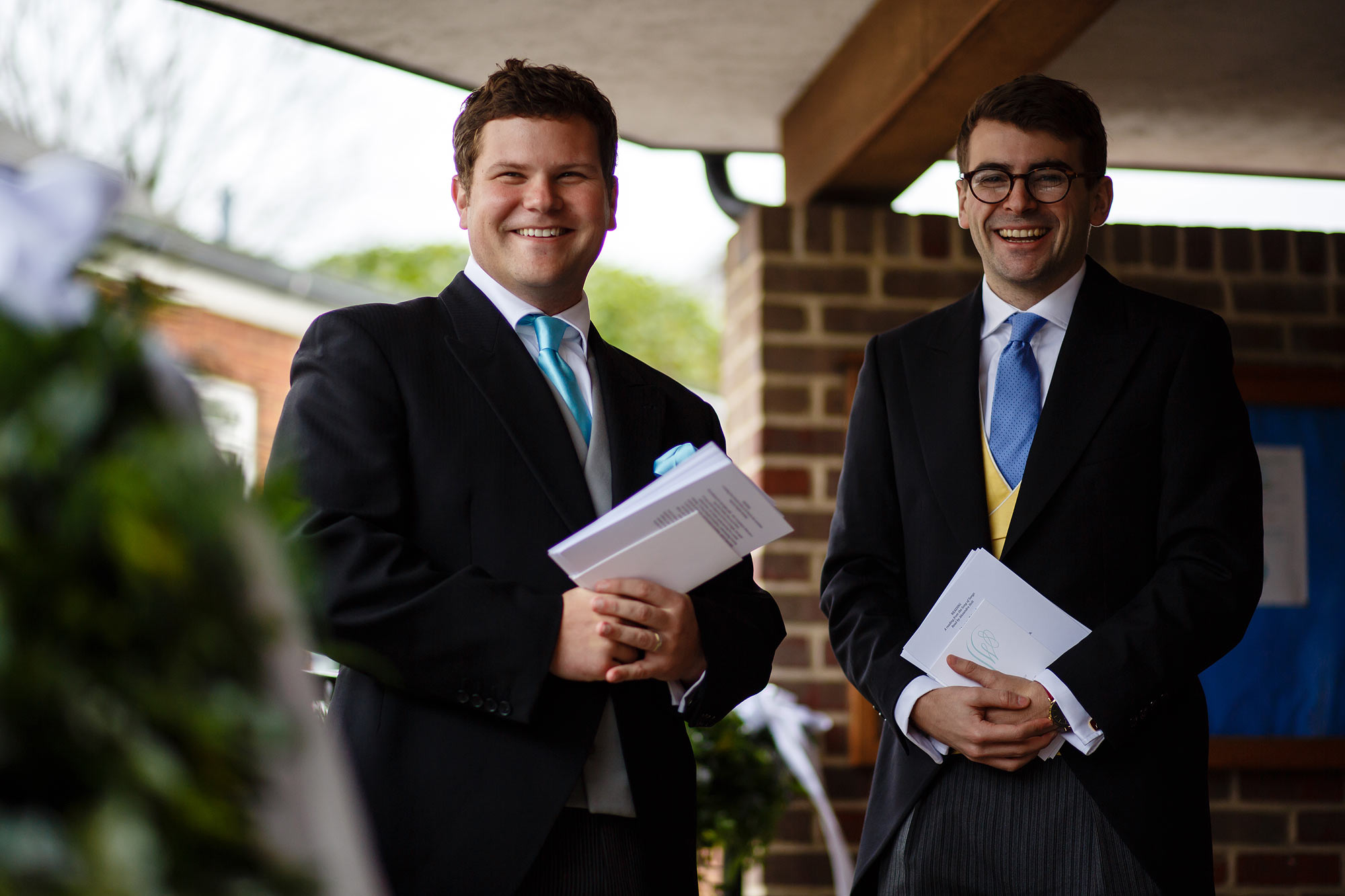 ushers in turquoise tie