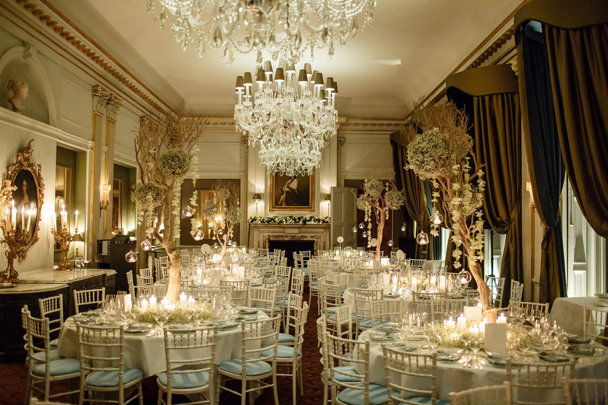 winter wedding Cliveden House