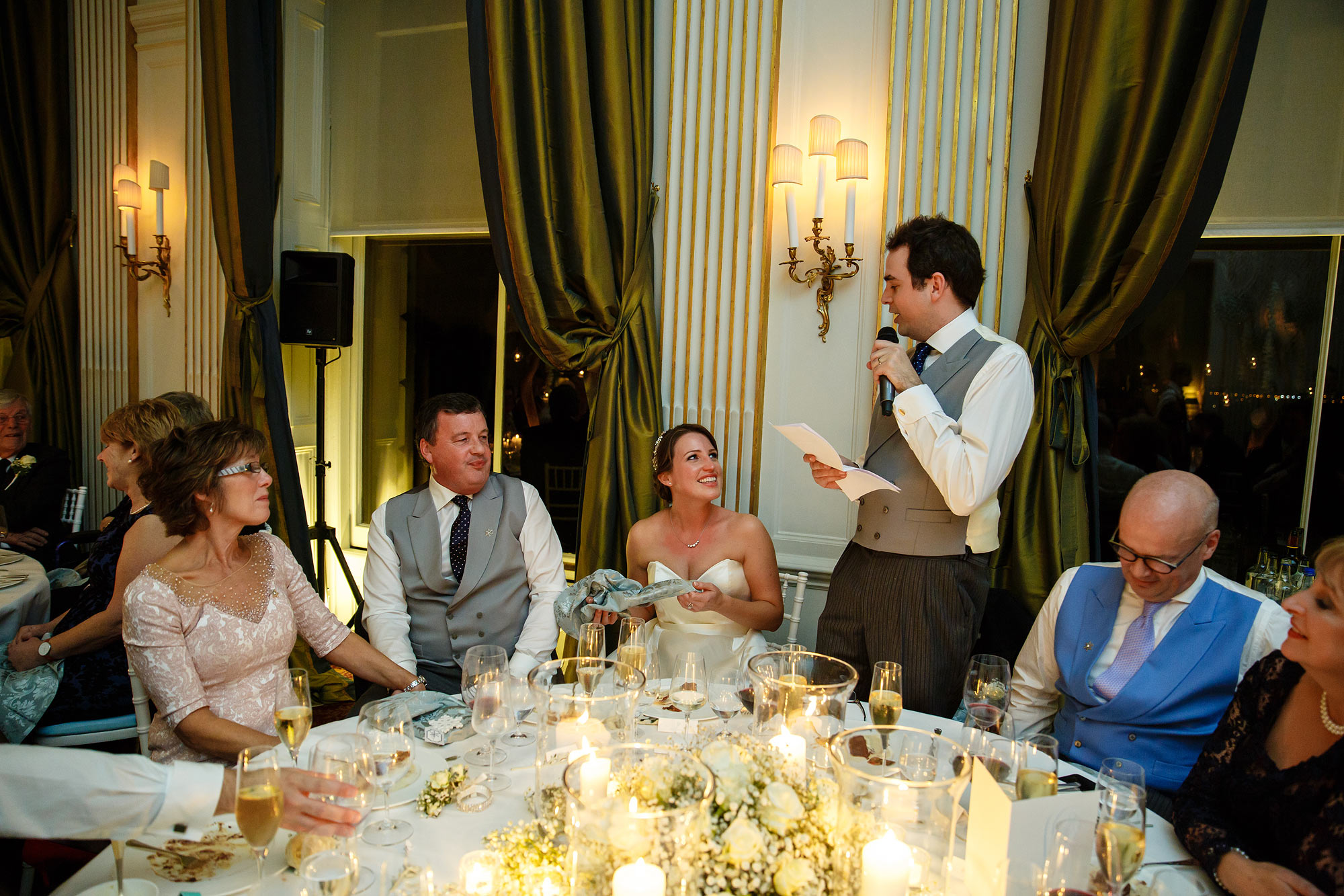 speeches at winter wedding Cliveden House